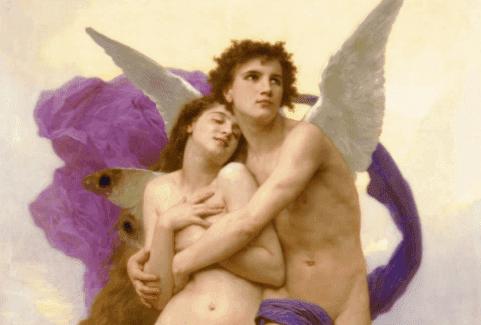 Dipinto di Amore e Psiche