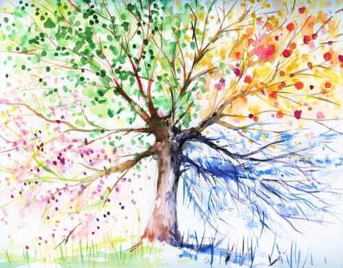 Disegno di un albero colorato