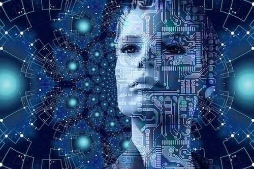 Volto di donna creato al computer