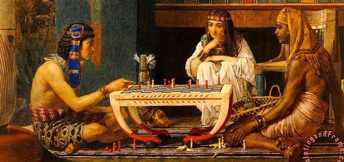 Affresco raffigurante la cultura egizia