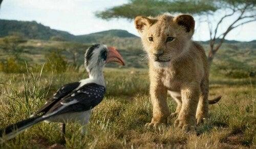 Il re leone da cucciolo