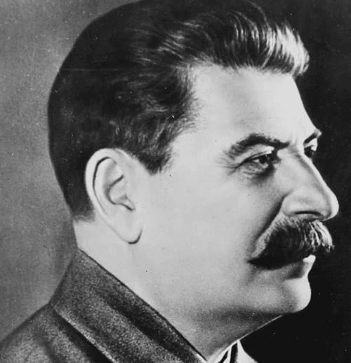 Fotografia di profilo di Stalin