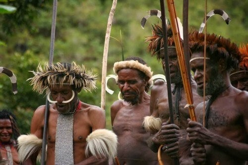 Tribù della valle di baliem