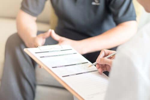 Cartella clinica del paziente durante la nidoterapia