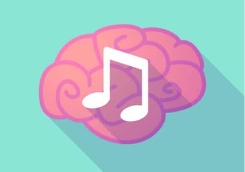 Cervello con nota musicale