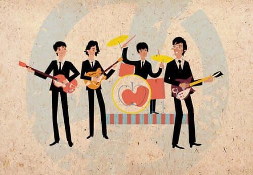 Illustrazione dei Beatles
