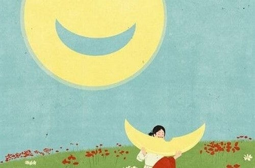 Luna con il sorriso