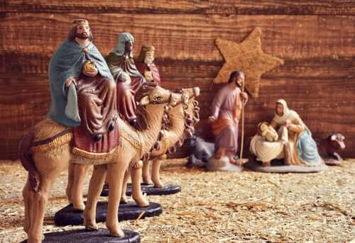 Re magi che arrivano a Betlemme