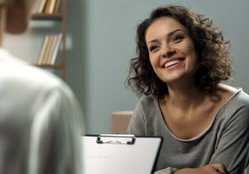 Paziente contenta dallo psicologo