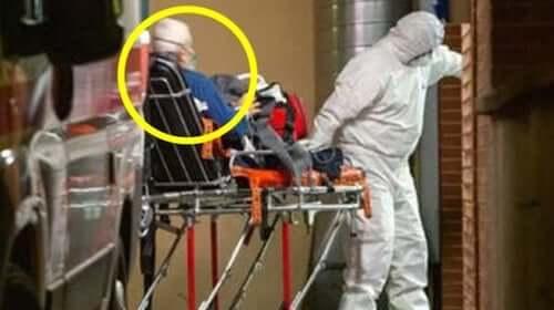 Uomo anziano portato in ospedale perché contagiato dal coronavirus