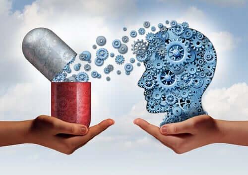 Cervello con meccanismi