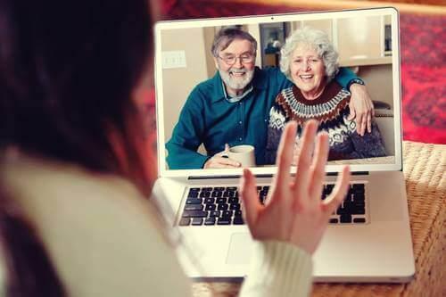 Videochiamata con i nonni