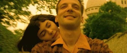 Amélie con il fidanzato