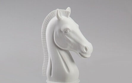 Pedina scacchi cavallo bianco