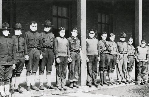Foto storica durante la influenza spagnola