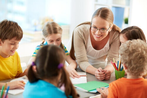albero dei valori, gruppo di lavoro in classe