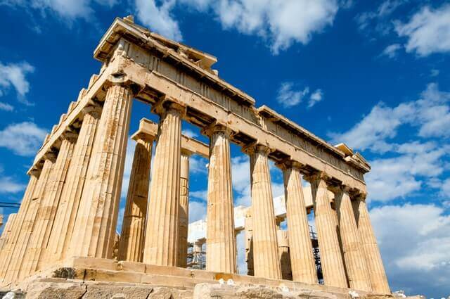Partenone in Grecia