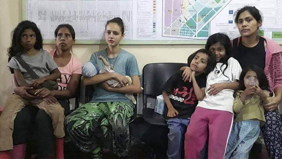 Patricia Aguilar, foto di gruppo in Perù