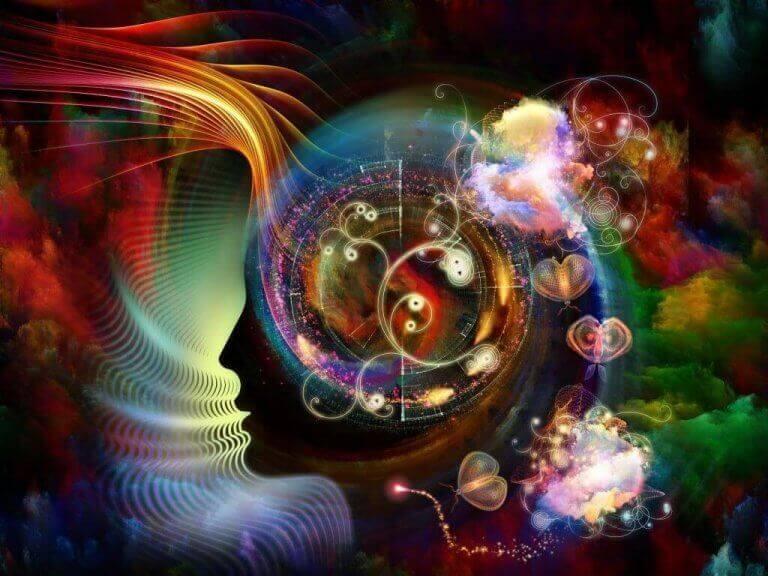 Disegno astratto della mente estesa