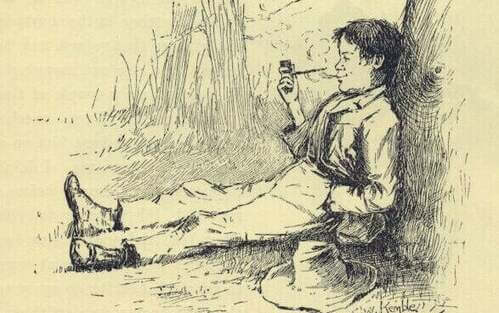 Illustrazione di Huckleberry Finn