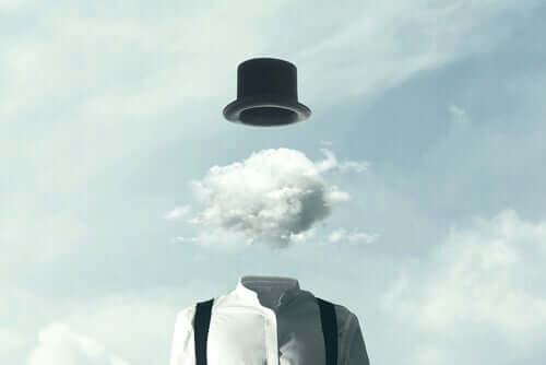 Uomo con nube in testa