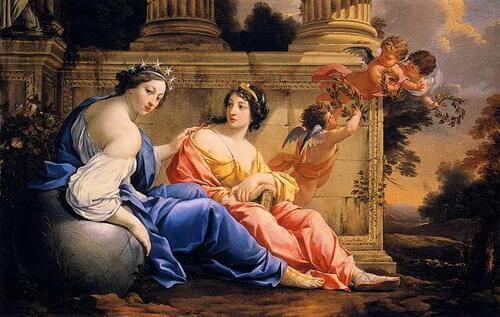 Le Muse Urania e Calliope
