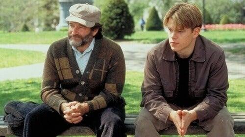 Williams e Damon in Will Hunting: genio ribelle