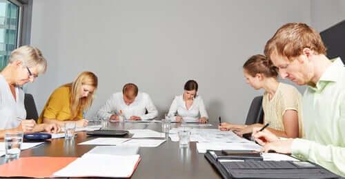 Assessment center durante la selezione del personale.