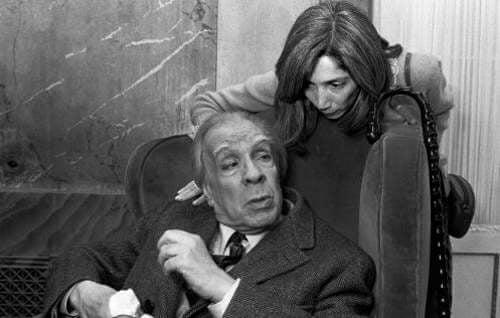 Jorge Luis Borges con sua moglie