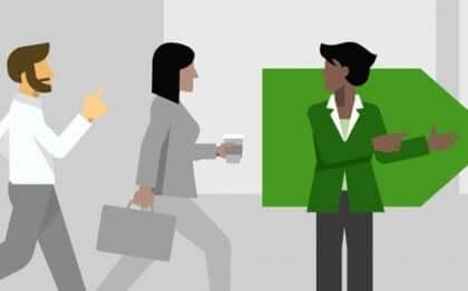 Psicologo in azienda, donna orienta i dipendenti