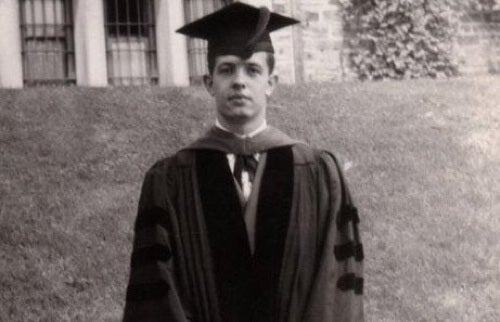 John Forbes Nash studente universitario.