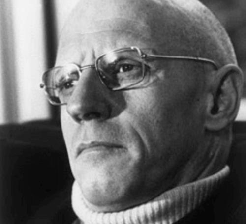 Foto in bianco e nero di Michel Foucault