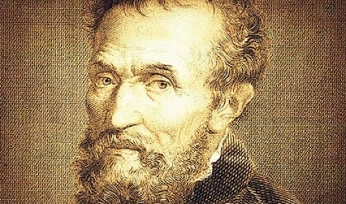 Incisione di Michelangelo Buonarroti.