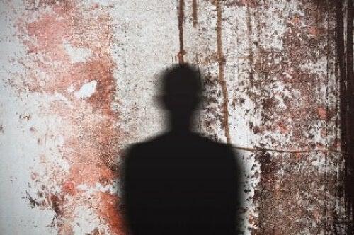 Ombra d'uomo su parete