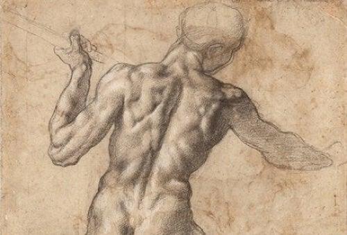 Schizzo del corpo umano.