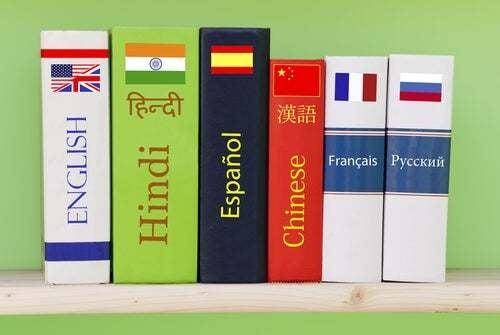 Vocabolari di lingue straniere.