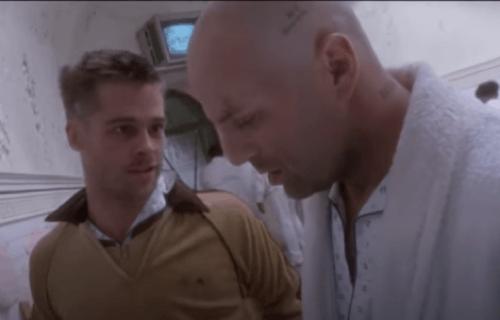 Brad Pitt e Bruce Willis in L'esercito delle 12 scimmie.