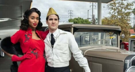 Coppia abbracciata della serie Hollywood.