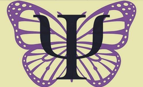 La farfalla è il simbolo della psicologia.