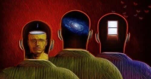 Figure maschili che rappresentano l'inconscio dell'uomo.