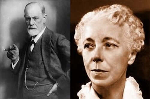 Sigmund Freud e Karen Horney.