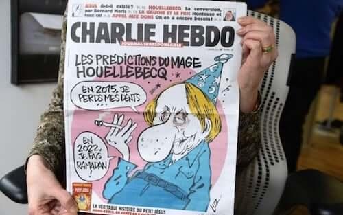 Prima pagina della rivista francese Charlie Hebdo.