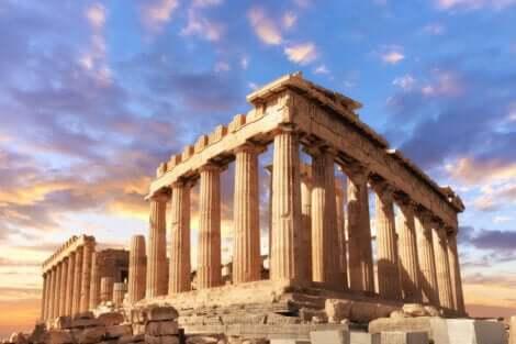 Partenone ad Atene.