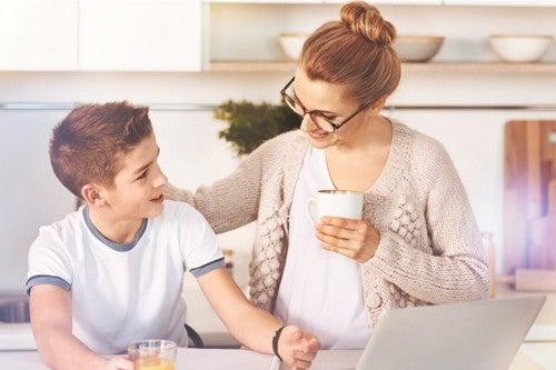 Un rinforzo positivo tra madre e figlio.