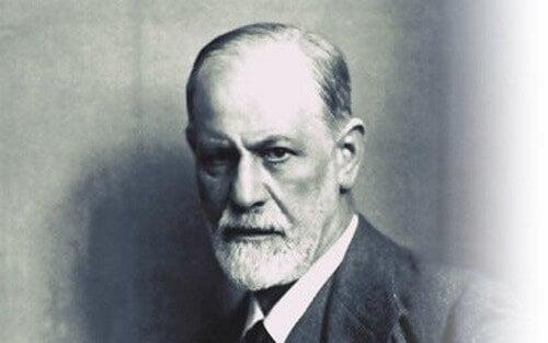 Foto in bianco e nero di Sigmund Freud.