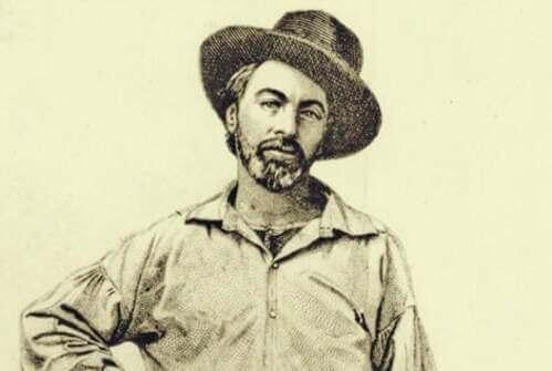 Disegno di Walt Whitman da giovane.