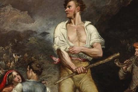 Lord Byron impegnato nella lotta per l'indipendenza greca.