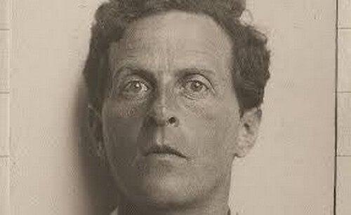 Foto in bianco e nero di Wittgenstein.