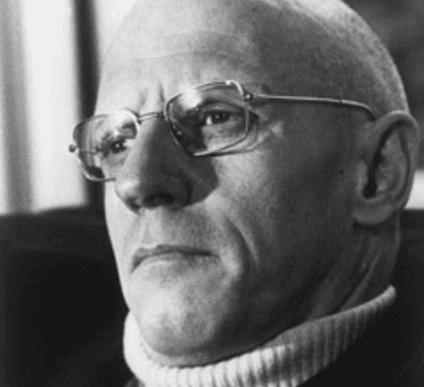 Fotografia di Michel Foucault.