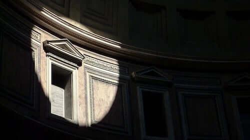 Particolare del Pantheon di Roma.